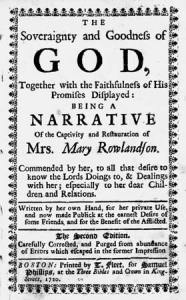 women s indian captivity narratives book report A summary of themes in mary rowlandson's the sovereignty and goodness of god subsequent captivity teach rowlandson that her narrative.