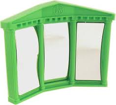 fun house mirror green