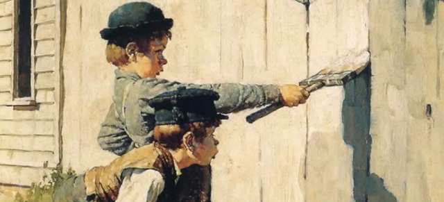 Norman-Rockwell-tom-sawyer-whitewashing-the-fence